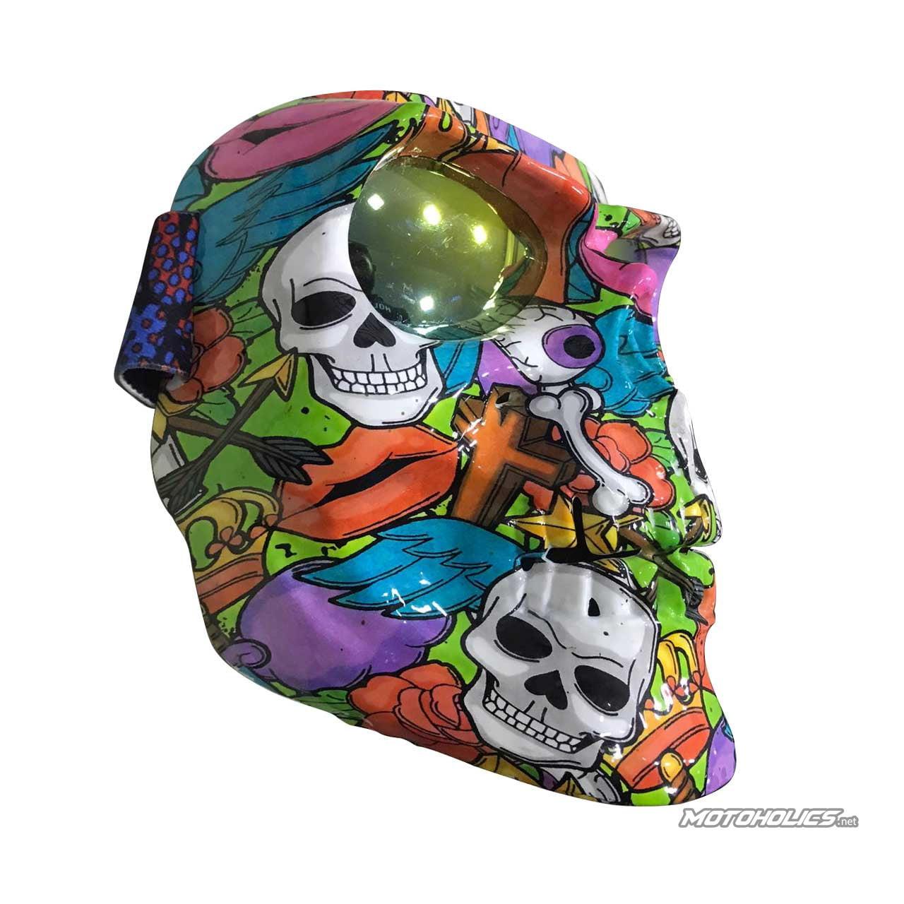 Skull mask colored- light