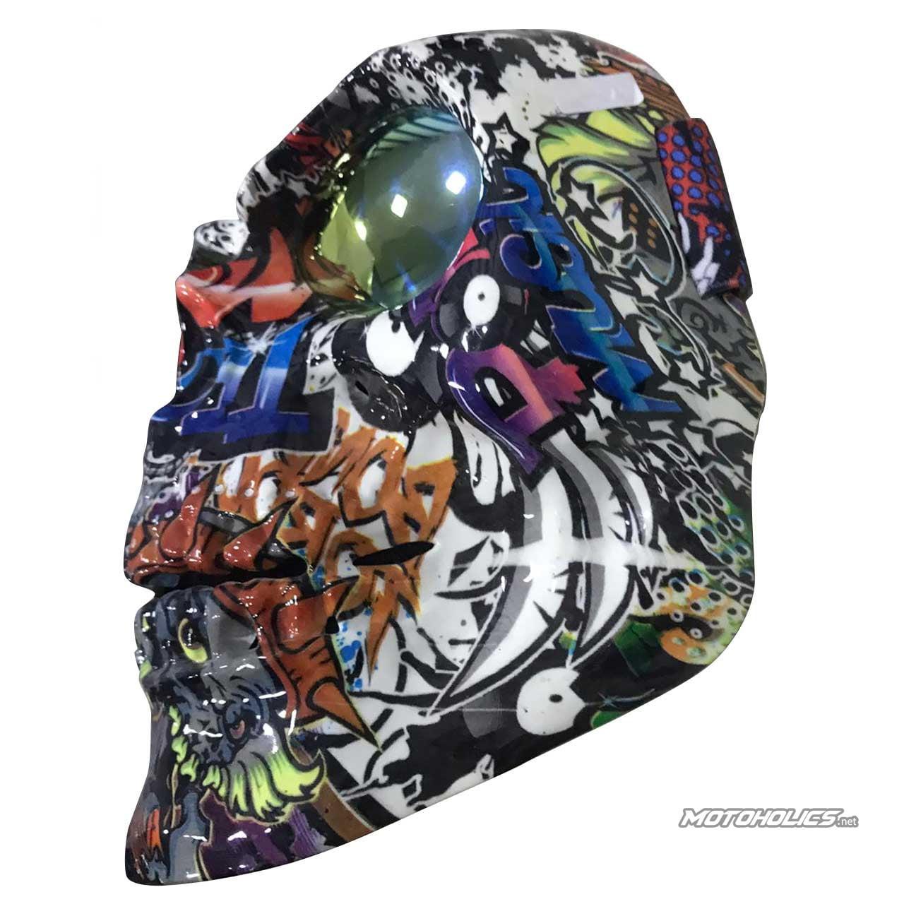 Skull colored Mask- Heavy