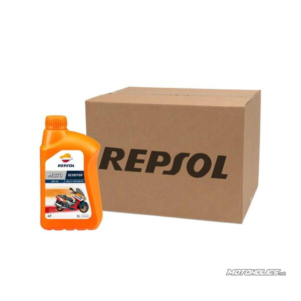 10 bottles box- REPSOL MOTO SCOOTER 4T 5W-40 engine oil (1 Liter)